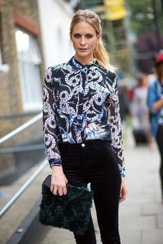 London Fashion Week Street Style Spring 2015 - London Street Style - Harper's BAZAAR- Poppy
