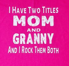 Mothers Day Shirts, Shirts For Girls, Mom And Grandma, Brand Me, Mother Day Gifts, Cancer Awareness, Pretty In Pink, Pink And Green, Colorful Shirts