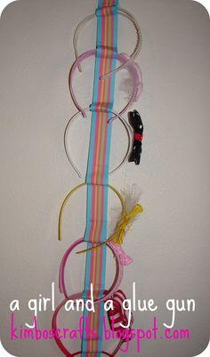 headband holder | A girl and a glue gun