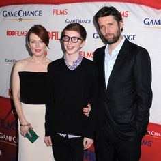 Julianne Moore brings her son to Game Change premiere