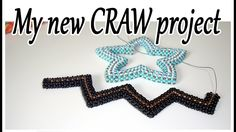 My new CRAW bead project - Black bronze beaded star  - Cubic Right angle...