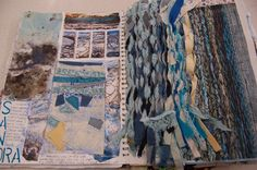 Nicole Heslop DHSFG Textiles A Level Art Sketchbook, Sketchbook Layout, Textiles Sketchbook, Arte Sketchbook, Sketchbook Inspiration, Textile Texture, Textile Art, A Level Textiles, Art Alevel