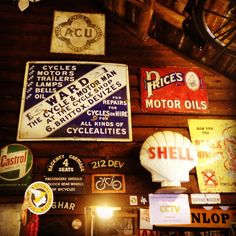 Beautiful collection of #Vintage #enamel #signs  @ #BattlesbridgeMotorcycleMuseum