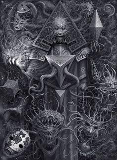 underground fantasy for your pleasure Necronomicon Lovecraft, Lovecraft Cthulhu, Hp Lovecraft, Cthulhu Art, Fantasy Kunst, Dark Fantasy Art, Dark Art, Arte Horror, Horror Art