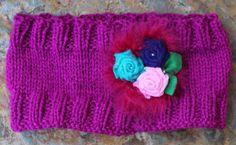 Ear warmer headband Cerise pink ear warmer  Knit by KennaInAfrica, $23.50