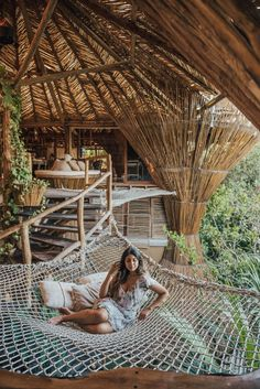 anywhere as a hammock (kids play too) Bamboo House Design, Resorts, Jungle House, Bamboo Architecture, Cool Tree Houses, Tree House Designs, Beautiful Places To Travel, Dream Vacations, Places To Visit