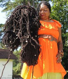 longest dreads | Asha Mandela :: Shop DreadStop.Com for Premium Leather Dread Cuff #dreadstop