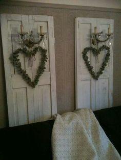 Oude deuren met lampjes!