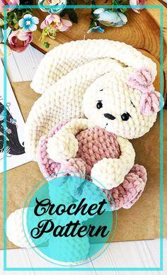 Crochet Rabbit Free Pattern, Easter Crochet Patterns, Crochet Amigurumi Free Patterns, Crochet Doll Pattern, Crochet Baby Toys, Cute Crochet, Beautiful Crochet, Bunny Plush, Amigurumi Doll