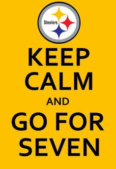 Go Steelers! I'm still waiting for the day when we get seven rings!