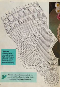 Round Pineapple Tablecloth 7592 pattern by The Spool Cotton Company Mandala Au Crochet, Crochet Doily Diagram, Crochet Edging Patterns, Crochet Blocks, Crochet Dollies, Crochet Coat, Thread Crochet, Crochet Stitches, Shabby Chic Rug