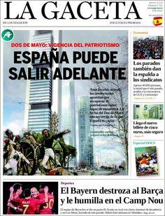 Los Titulares y Portadas de Noticias Destacadas Españolas del 2 de Mayo de 2013 del Diario La Gaceta de los Negocios ¿Que le parecio esta Portada de este Diario Español?
