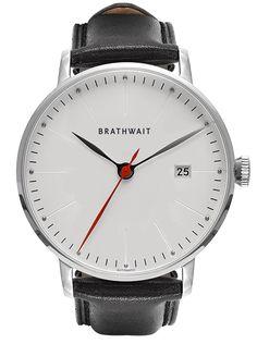 Automatic Minimalist Steel Wrist Watch: Melano handmade Italian leather strap