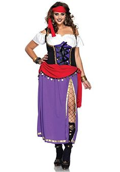 Leg Avenue Womens Traveling Gypsy Costume PurpleBlack 1X2X -- More info could be found at the image url-affiliate link.