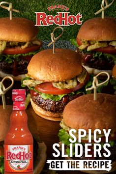 We've got your next event covered with Frank's RedHot Spicy Sliders. Easy to make and cleanup for this spicy slider recipe is a breeze. Best Hamburger Recipes, Beef Recipes, Cooking Recipes, Appetizer Sandwiches, Appetizer Recipes, Snack Recipes, Appetizers, Hawaiian Buns, French Tips