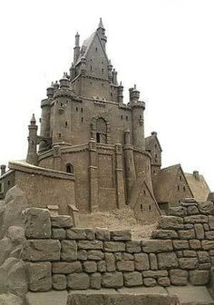 *Now that is some sandcastle!!!