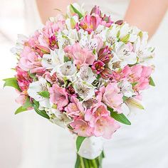 """""""Alstroemeria, also known as Peruvian Lilies, pack a big punch as they come down the aisle. #Alstroemeria #PeruvianLilies #punch #PINK! #bright #weddingbouquet #bridetobe"""" Photo taken by @colinweddings on Instagram, pinned via the InstaPin iOS App! http://www.instapinapp.com (07/02/2015)"""