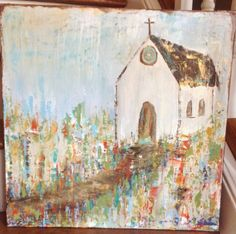 """Recently, I had the opportunity to share my """"art story"""". I know that God is pushing me out of my little comfort zone and I am blessed beyo. Art Story, Chapelle, Abstract Canvas Art, Small Art, Religious Art, Love Art, Painting Inspiration, Art Projects, Artwork"""