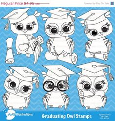 80% OFF Graduation owl clipart owl  digital by AMBillustrations