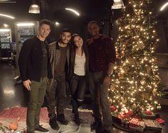 David, Joe, Rick & Madison #Arrow #Season5 - BTS
