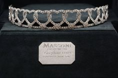 """""Love For Ever"" tiara by Massoni. Overlapped size graduated hearts set with a total of 500 diamonds, well selected by color and cut. The total of 31.39 carats river color. The height from 2 to 2.5 cm. The tiara is a result of a long lasting develepment and hand made work by Massoni craftmanships. Enclosed a hand made case with a white gold plate for personal engraving."" (quote) via 1stdibs.com"