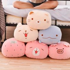 Kawaii Animals Dolls – Best Baby And Baby Toys Kawaii Shop, Kawaii Cute, Cute Stuffed Animals, Cute Animals, Kawaii Bedroom, Kawaii Accessories, Cute Plush, 3d Prints, Cute Toys