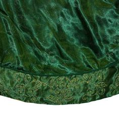 Green Christmas Tree Skirt With Beading