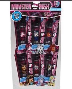Monster High Set of 6 Lip Balms Party Favors New | eBay