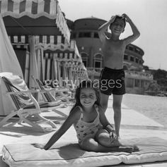 Christina Onassis - and Alexander Onassis - at the Monte Carlo Beach Club, 1958 Photo: Slim Aarons/Getty Images Christina Onassis, Aristotle Onassis, Slim Aarons, Richest In The World, Enjoy The Sunshine, Thats The Way, Jfk, Beach Club, Monte Carlo