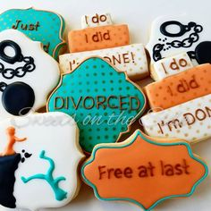 This was a first for me. Cookies to celebrate her divorce. She's a survivor! #divorcecookies #cookieclasses #customdesigncookies #okc #oklahomacity #metrookc #artisancookies #madeinoklahoma #sugarcookiesokc #shoplocal #cookieart #cookieartist #edmond #metroedmond #okcmetro #sugarcookies #cookiers #customcookies #customsugarcookies #gourmetcookies