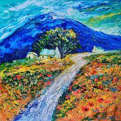 Mountain Farm cottage - Helen Blair Mountain Cottage, Farm Cottage, Family Of 5, Great Walks, Open Fires, Impressionist, Vibrant Colors, Fine Art Prints, My Arts