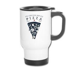 Schweizerdeutscher Thermobecher für die Person, die du mehr liebst als Pizza. #pizza #liebe #geschenk Pizza Pizza, Mugs, Tableware, Love You More Than, Tumblers, Gifts, Dinnerware, Tablewares, Mug
