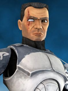 """CC-3636 (""""Wolffe"""") is a veteran clone trooper commander who served in the Grand Army of the Republic during the Clone Wars. Wolffe served with Jedi General Plo Koon and lead the 104th Battalion's famed Wolfpack squad. Commander Wolffe proved to be tireless in his efforts against the Confederacy of Independent Systems, displaying an affinity for strategy. In 22 BBY, on his first mission with Koon, Wolffe served on board the Jedi Master's flagship, the Triumphant, when Koon led a task force to…"""