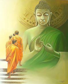 Lord Buddha Art Paintings for Sale, Buddha Oil Paintings on Canvas Online Gautama Buddha, Buddha Buddhism, Buddha Art, Composition Painting, Buddha Painting, Thai Art, India Art, Popular Art, Zen Art