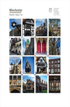 Winchester City. Posters of cities and towns @ theclassicpostercompany.com