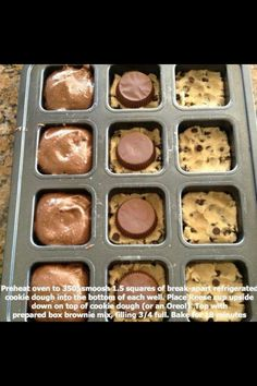 Reese's peanut butter cookie chocolate brownies!