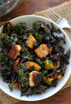 ... Roasted Squash and Kale Salad | Roasted Squash, Kale Salads and Kale
