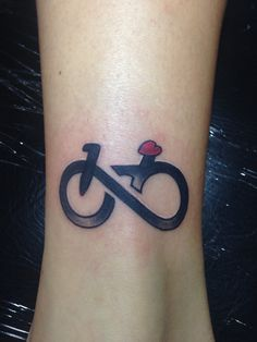 My new tattoo - infinity sign As a bike!