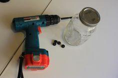 DIY Mason Jar Drinking-Switch mason jars to plastic Jiffy jars.