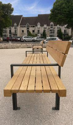 guyon banc en bois linea mobilier urbain