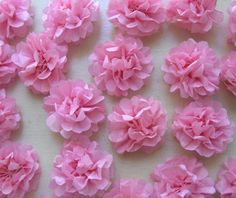 DIY Tiny Tissue Paper Flowers. Direct link: http://zakkalife.blogspot.com/2009/06/how-to-tiny-delicate-tissue-flowers.html