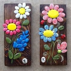 Pebble art driftwood art pebble collage wall decor pebble flowers made to order – Artofit Pebble Painting, Pebble Art, Stone Painting, Stone Crafts, Rock Crafts, Arts And Crafts, Painted Driftwood, Driftwood Crafts, Caillou Roche