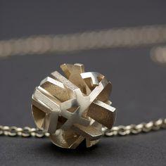 Matte silver pendant unisex jewelry sterling by FairinaCheng, via Etsy.