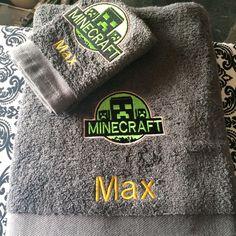 Minecraft badge machine embroidery design