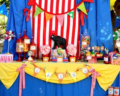 CIRCUS BANNER Happy Birthday Banner Krown Kreations by kalliegalaz