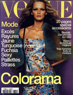 Carmen Kass en couverture du numéro d'octobre 1999 de Vogue Paris http://www.vogue.fr/thevoguelist/carmen-kass/28
