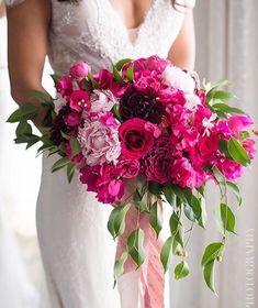 Fuchsia, magenta, blush, and Marsala bouquet