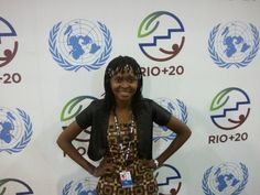 Cecília Dimande representing Mozambican children and youth at Rio+20. -- http://www.unicef.org/mozambique/media_11074.html --  © UNICEF Mozambique/2012