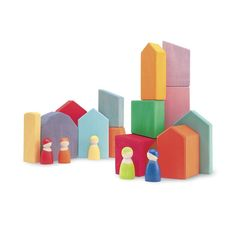 Large Wooden Blocks Village from Grimm's® Toys in Wooden Toys