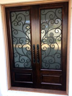 Bergamo. Wood and Wrought Iron Door